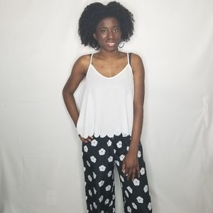 Wet Seal Floral Wide Leg Palazzo Pants